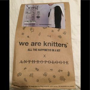 Anthropologie we are Knitters scarf new
